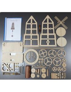 Wooden wall clock Windmill...