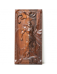 Warrior, Carved mahogany wood