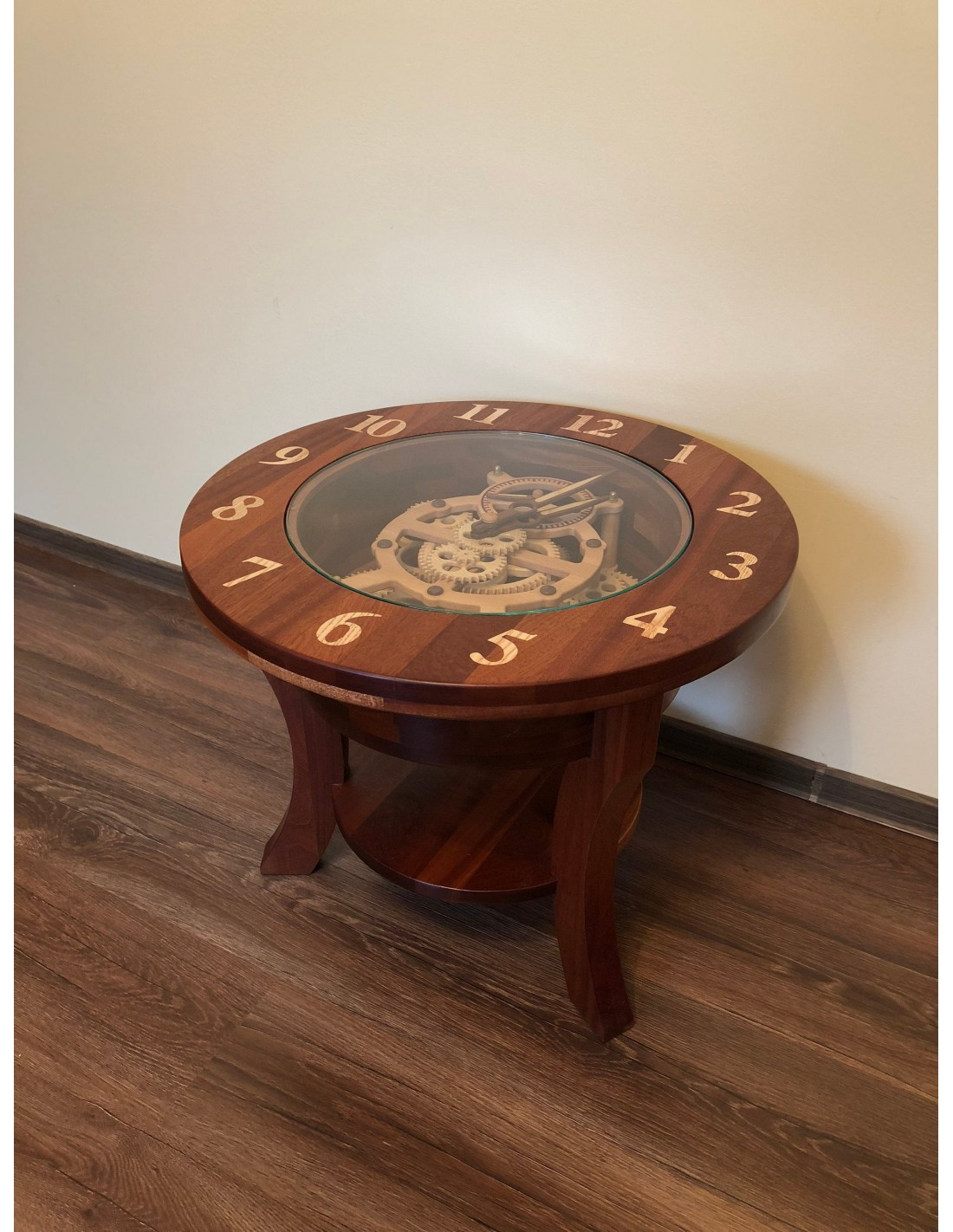 - Coffee Table With Wooden Clock